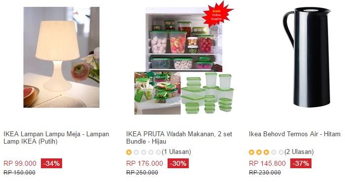Beli barangan jenama Ikea di internet di Lazada Indonesia