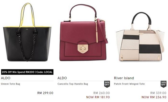 Beli beg tangan wanita berkualiti yang sederhana mahal di Zalora Malaysia