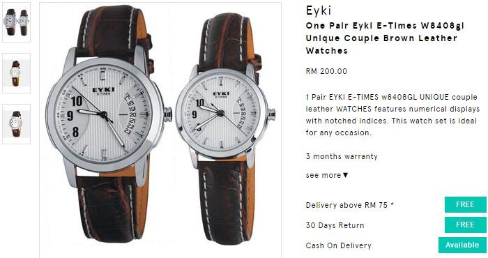 Beli jam tangan perkahwinan jenis couple dan murah online di Zalora Malaysia.jpg