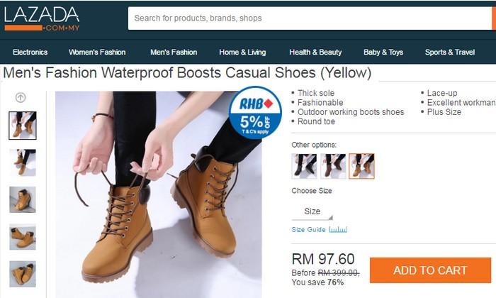 Beli kasut lelaki terkini yang cantik dan murah di eCommerce Lazada Malaysia