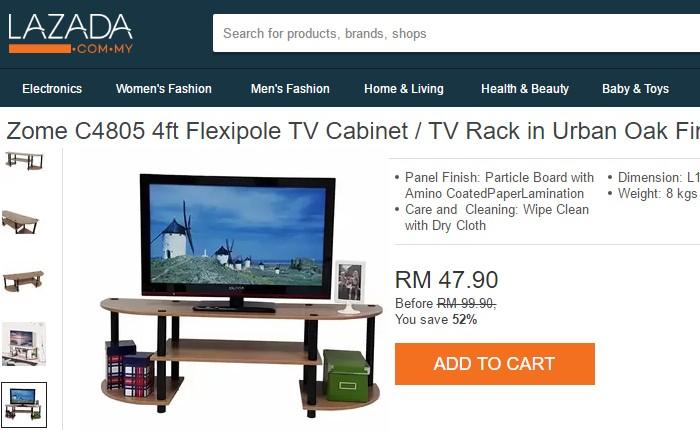 Beli meja tv murah yang simple di Lazada Malaysia