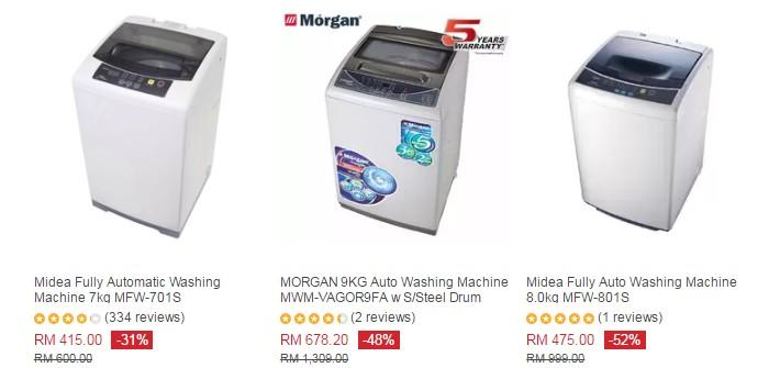 Beli mesin basuh auto yang murah di website ecommerce Lazada Malaysia
