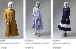 Beli pakaian fesyen muslimah Indonesia jenis blouse online di MuslimMarket
