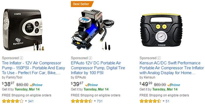 Beli pam tayar portable elektrik yang berkualiti di internet melalui web ecommerce Amazon