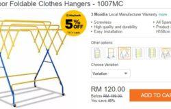 Beli penggantung baju beroda untuk menjemur pakaian di Lazada Malaysia