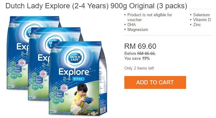 Beli susu formula kanak kanak jenama Dutch Lady murah di Lazada Malaysia