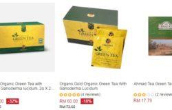 Beli teh hijau dalam kotak pek bungkusan di Lazada Malaysia