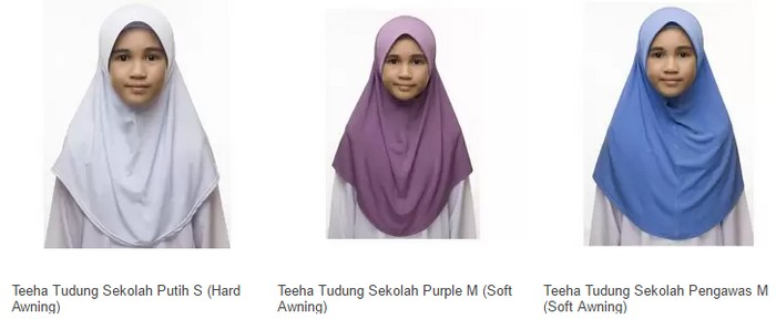 Beli tudung sekolah yang pelbagai warna untuk kanak perempuan