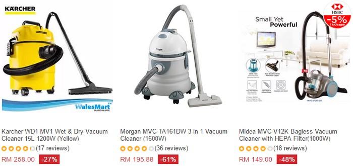 Beli vacuum cleaner rumah online di Lazada Malaysia