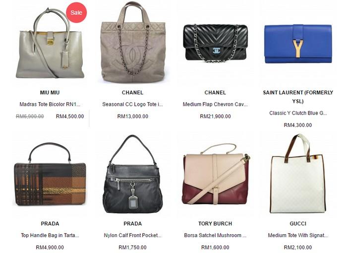 Dapatkan beg tangan berjenama mahal luar negara wanita di website Glampot