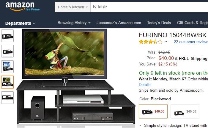 Dapatkan kabinet rak meja tv yang berkualiti di eCommerce Amazon