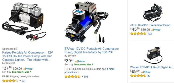Dapatkan pam tayar mudah alih portable berkualiti di website Amazon