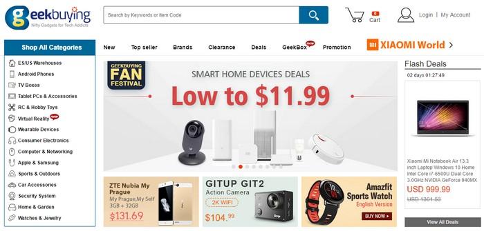 Geekbuying one of the best China eCommerce websites