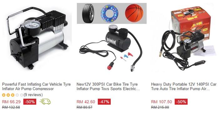 Harga sebenar pam tayar mudah alih yang dijual di Lazada Malaysia