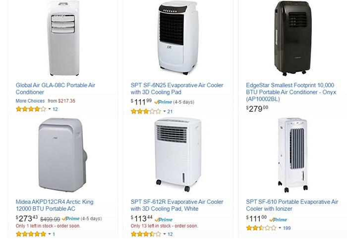 Portable air conditioner yang murah tetapi berkualiti ada dijual di ecommerce Amazon