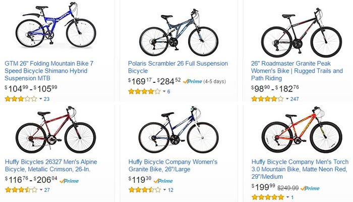 Promosi basikal murah yang berkualiti di website eCommerce Amazon