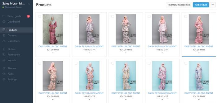 Saya membina online shop mudah dan murah dengan eCommerce dari Easystore Malaysia