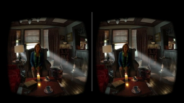 Split skrin dari snapshoot video Insidious Virtual Reality (VR)