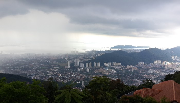Watch overview Penang from Bukit Bendera