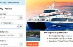 Website untuk booking dan beli tiket feri dari Penang ke Langkawi