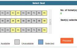 Anda boleh melihat kerusi (seat) kosong tiket bas ekspress yang anda beli booking melalui BusOnlineTicket