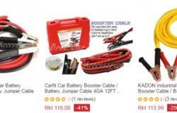 Bateri jumper cable untuk persediaan peralatan kecemasan kereta