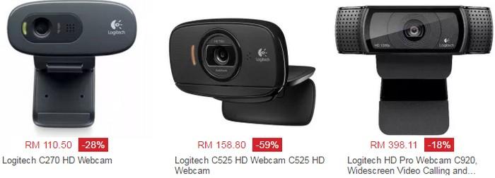 Beli Logitech C270h webcam murah secara online di website eCommerce Lazada Malaysia