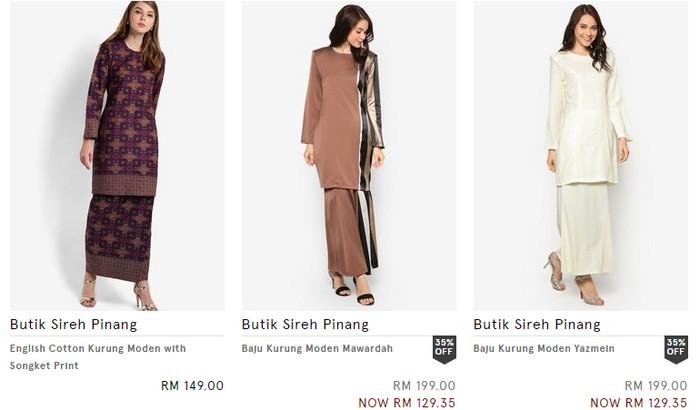 Beli baju kurung hari raya jenis moden murah online di website eCommerce Zalora Malaysia