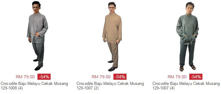 Beli baju melayu murah jenis cekak musang di website eCommerce Lazada Malaysia