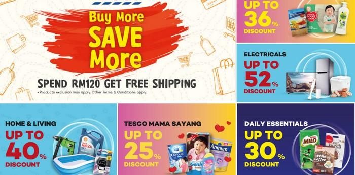 Beli barang dapur online melalui Tesco Online