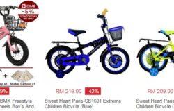 Beli basikal kanak kanak di bawah RM300 murah cantik online di website eCommerce Lazada Malaysia