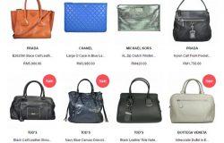 Beli beg tangan wanita berjenama Prada Chanel Tod's Micheal Kors secara online di website eCommerce Glampot