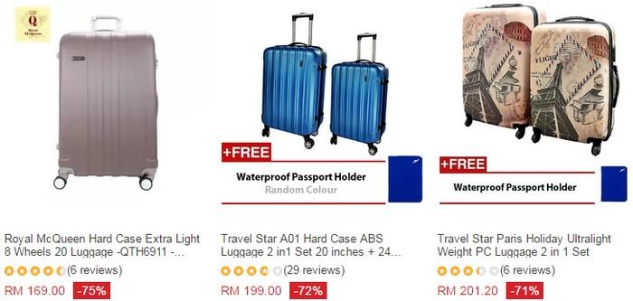 Beli beg tarik beroda murah online melalui website eCommerce Lazada Malaysia