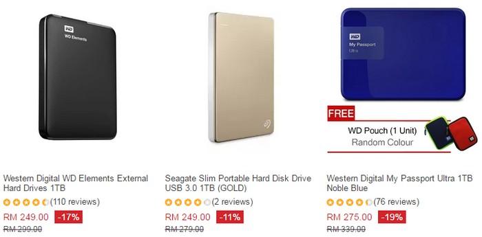 Beli external hard disk murah yang bagus di website eCommerce Lazada Malaysia