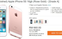 Beli iPhone murah melalui internet di website eCommerce merchant Lazada Malaysia