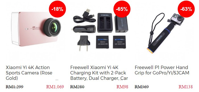 Beli kamera aksi Xiaomi Yi dengan aksesori murah di internet melalui website eCommerce Cameralah
