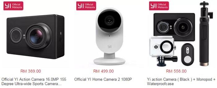 Beli kamera aksi Xiaomi Yi online official store di website eCommerce Lazada Malaysia