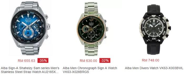 Beli pelbagai jenis jam tangan Alba yang cantik dan menarik di website eCommerce Lazada Malaysia