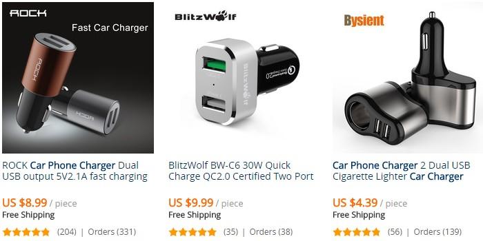 Beli pengecas bateri telefon murah di internet melalui website eCommerce Aliexpress