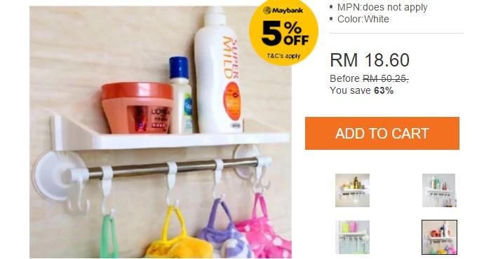 Beli penyangkut barang di dinding yang murah di website eCommerce Lazada Malaysia
