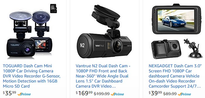 Beli perakam video kenderaan dashcam berkualiti di internet di website eCommerce Amazon
