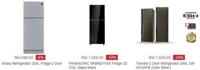 Beli peti ais berjenama di bawah RM1000 di website eCommerce Lazada Malaysia