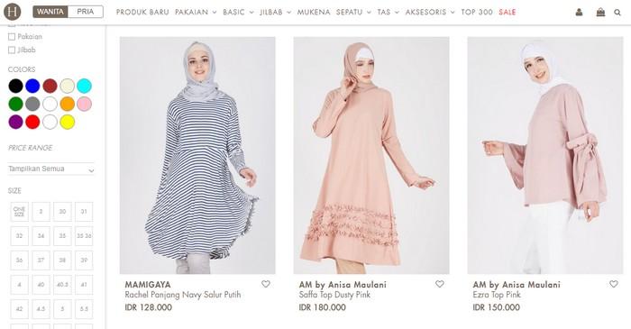 Beli produk pakaian busana muslimah moden online dari Indonesia