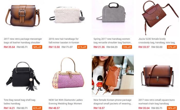 Beli secara pukal banyak dan murah handbag wanita di website eCommerce Ezbuy