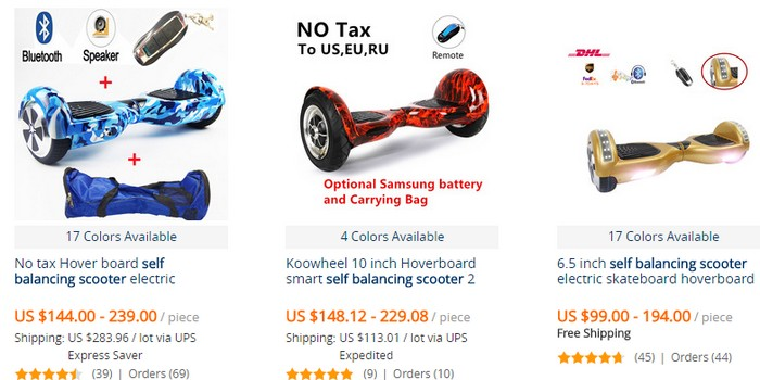 Beli self balancing scooters murah di internet melalui website eCommerce Aliexpress