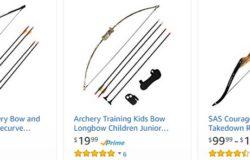 Beli set busur dan panah archery untuk aktiviti memanah di internet di website eCommerce Amazon
