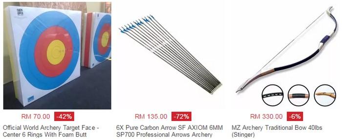 Beli set lengkap busur panah berkualiti dan murah di website eCommerce Lazada Malaysia