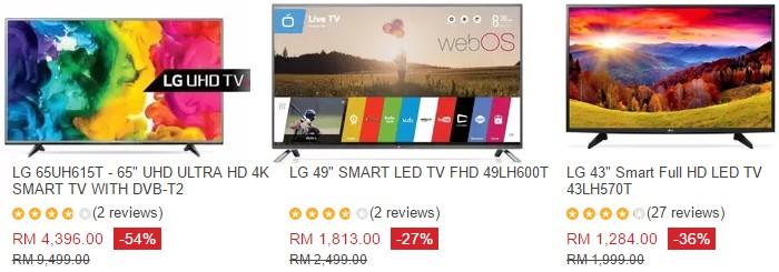 Beli smart tv murah secara online di website eCommerce Lazada Malaysia