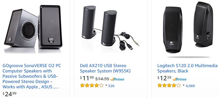 Beli speaker stereo murah di internet yang berkualiti di website eCommerce Amazon