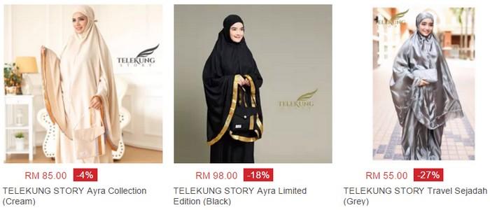 Beli telekung hantaran cantik, murah, pelbagai warna di website eCommerce Lazada Malaysia
